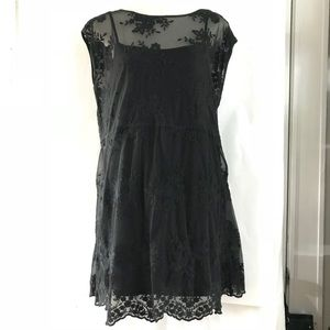 Alloy women's dress, size L, lace shell with slip